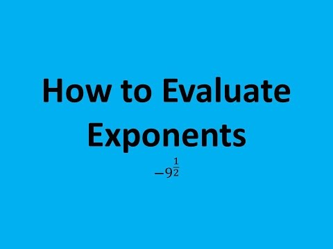 How to Evaluate Exponents (Expressions): -9^(1/2)