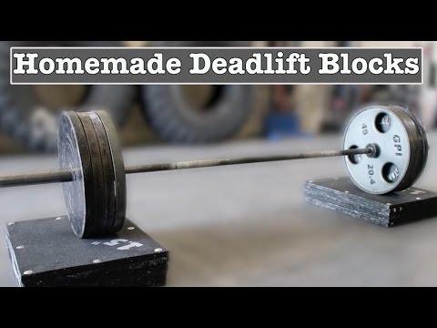 Make Your Own Deadlift Blocks - YouTube