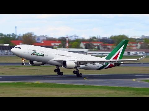 CLOSE UP! ALITALIA Airbus A330-200 [I-EJGA] Takeoff from Berlin Tegel Airport [Full HD]