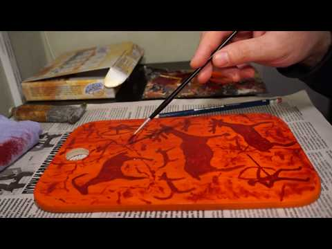 Рисуем на разделочной доске петроглифы видеообзор - 2