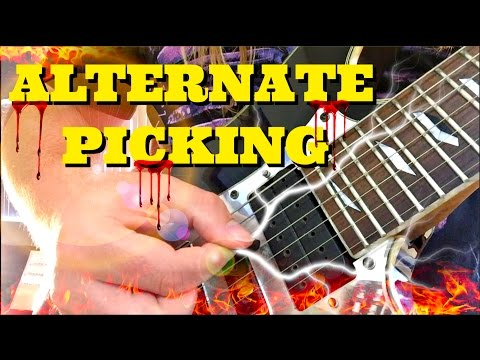Explosive Alternate Picking Guitar Lesson | Everything You Need For Speed