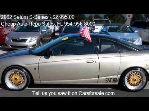 2002 Saturn S Series Sc2 3dr Coupe For Sale In Pompano Beach Youtube