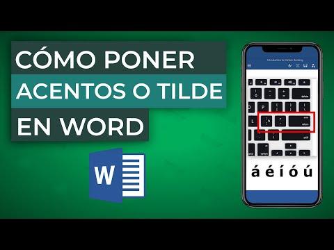 Cómo Poner ACENTOS o TILDE en Word - MUY FÁCIL