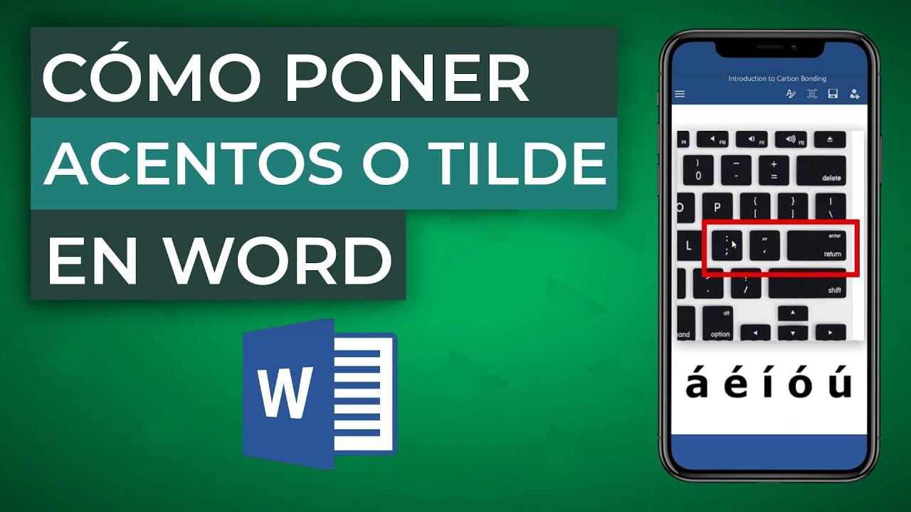Cómo Poner Acentos O Tilde En Word Muy Fácil Mira Cómo Se Hace