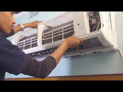 HOW TO OPEN SPLIT AC INDOOR UNIT FOR SERVICING OR CLEANIING