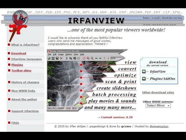 Видео-обзор IrfanView