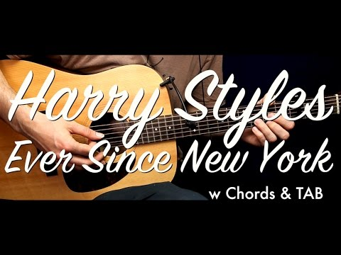 Harry Styles - Ever Since New York Guitar Tutorial Lesson /Guitar ...