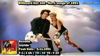 Billboard Hot 100 #1 Songs of 1991 [1080p HD]