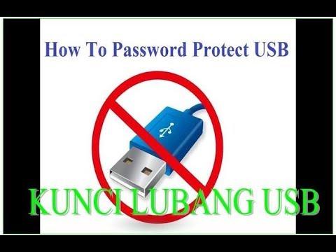 CARA MENGUNCI LUBANG USB LAPTOP - YouTube
