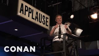 Conan's Applause Sign Gets An Upgrade  - CONAN on TBS