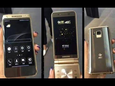 Galaxy Folder 2 - золотистая раскладушка на Андроиде от Samsung .