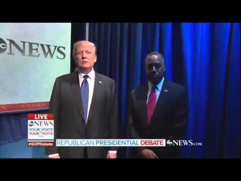 Ben Carson & Donald Trump Botch Republican Debate Entrance! @HotheadCa$h