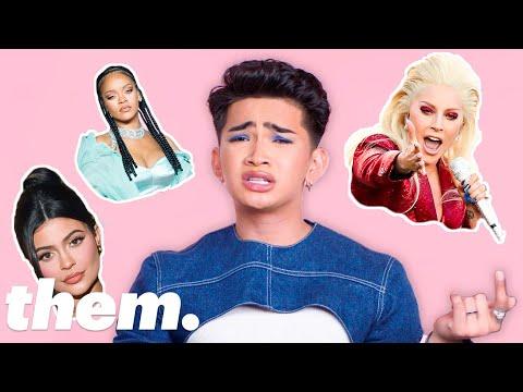 Bretman Rock Takes The LGBTQuiz: Makeup Edition   Them.