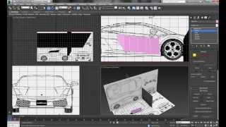 3DS MAX за 7 дней [Создание модели по чертежам, как вырезать] (Урок 5)