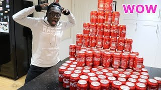 Drinking 100 Coca Cola Cans