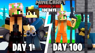 I Survived 100 DAYS in Minecraft PRISON! *maximum security* .. Here's What Happened