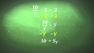 Algebra (Equations 4) - Equations Involving Fractions
