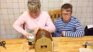 Gingerbread barn assembly