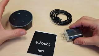 Amazon Echo Dot Unboxing (4K)