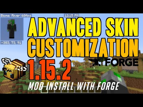 ADVANCED SKIN CUSTOMIZATION MOD 1.15.2 minecraft - how to download & install (with Forge on Windows)