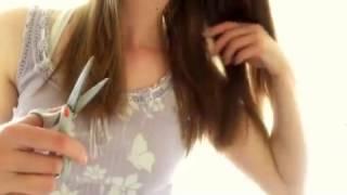 ASMR hair brushing, combing, cutting and hair play. No talking. Part 2