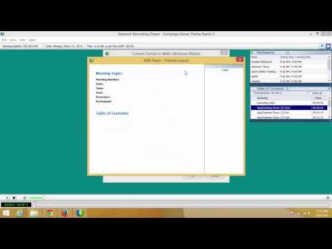 How to convert WEBEX ARF file to MP4