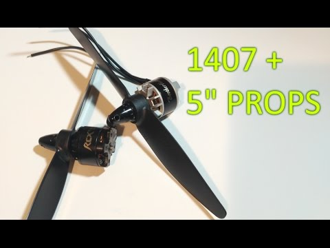 """Thrust Testing and Comparing 1407 Motors on 5"""" Props"""