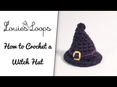 How to crochet a Witch / Wizard Hat