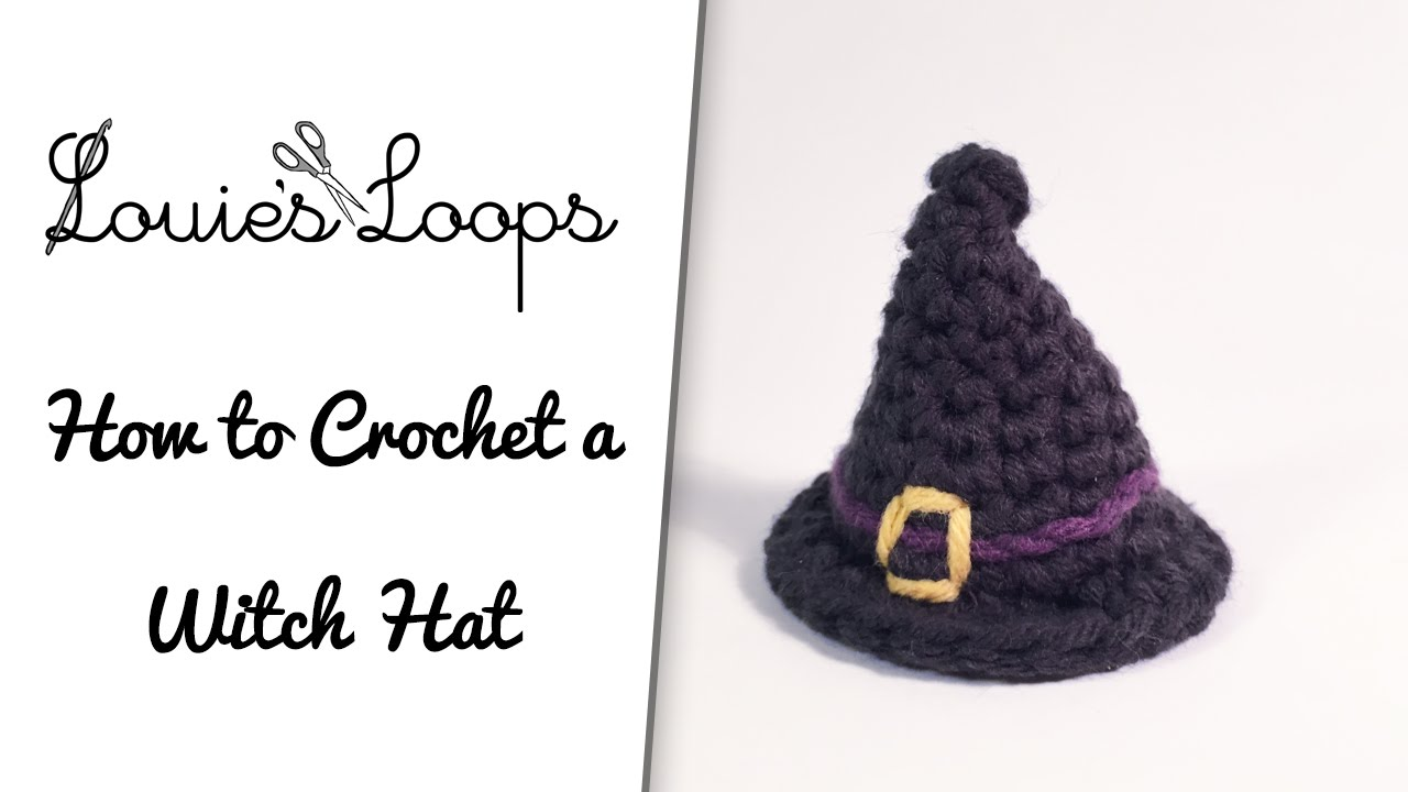 How to crochet a Witch / Wizard Hat - YouTube