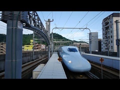 九州・山陽新幹線 みずほ600号 (N700系運行) 超広角車窓 進行左側 鹿児島中央~博多~新大阪