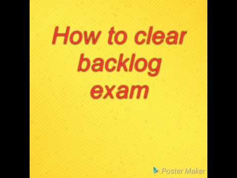 How to clear GTU backlog Paper
