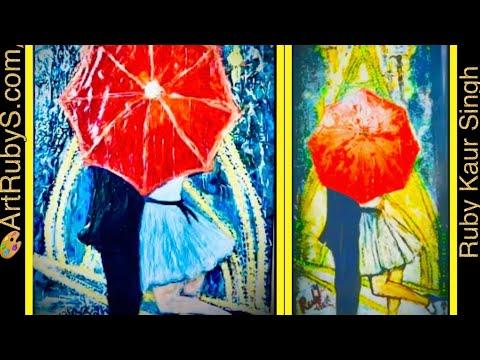 Acrylics Painting| Paris Rain| Handmade Realistic Art | #PaintwithRubyKaurSingh| #ArtRubySRubySingh