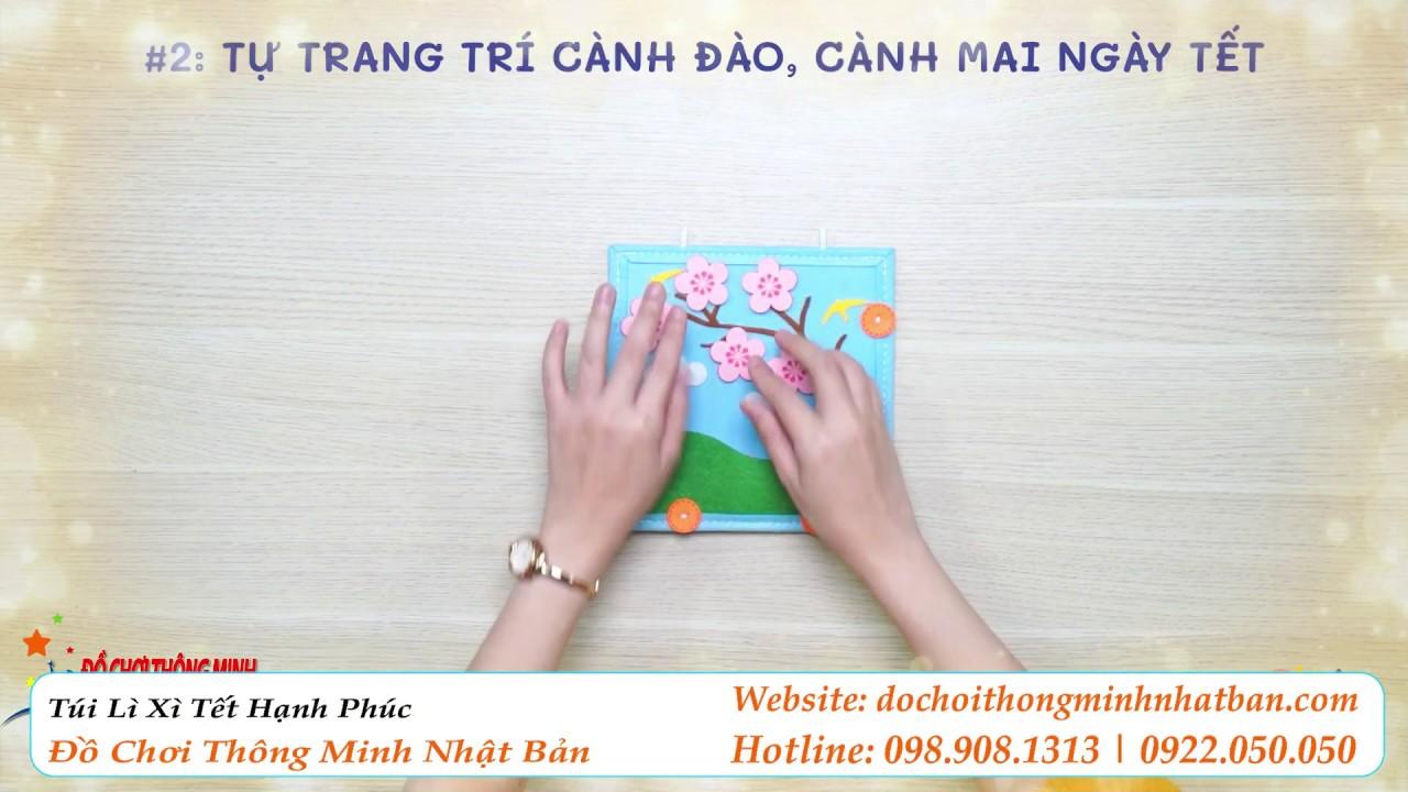 #2 Tự Trang Trí Cành Đào, Cành Mai Ngày Tết | Túi Lì Xì Tết Hạnh Phúc
