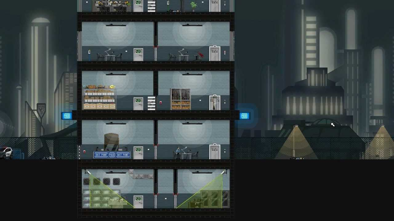 Gunpoint a game about rewiring things and punching people