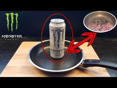 Monster Energy Vs Monster Energy Light - Boiling Experiment!