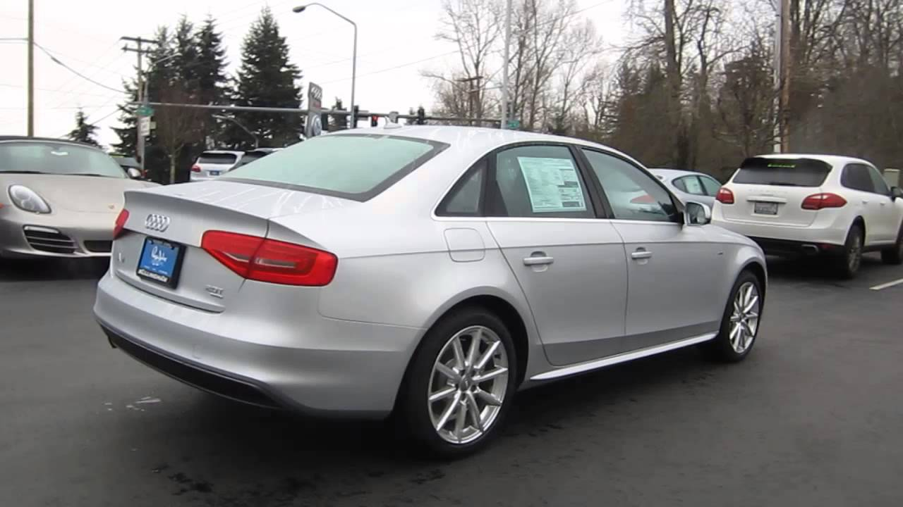 2014 Audi A4 Ice Silver Metallic Stock 109689 Walk