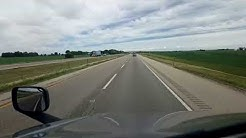 BigRigTravels LIVE! leaving Des Moines, Iowa on Interstate 80 Eastbound