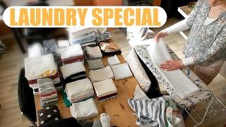 LAUNDRY | Washing, folding & ironing in timelapse! | VICINA LUCINDA