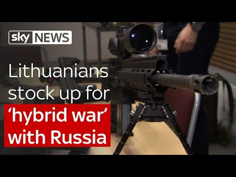 Lithuanians stock up for 'hybrid war' with Russia