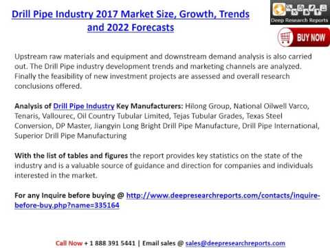 Drill Pipe Industry: 2017 Global Market Trends, Share, Size and 2022 Forecasts Report