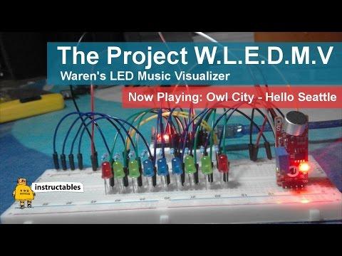 Waren's L.E.D Music Visualizer - Hello Seattle by Owl City