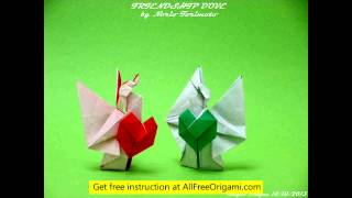 How To Make A Origami Dove Easy