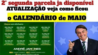 🔴2°parcelaja disponível veja como ficou o CALENDÁRIO de MAIO. AUXÍLIO EMERGENCIAL