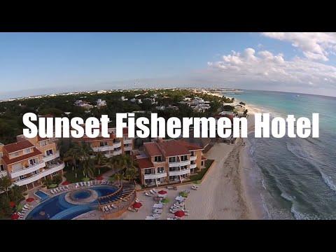 Sunset Fishermen Hotel In Playa Del Carmen Mexico - Aerial Drone Playacar Beach