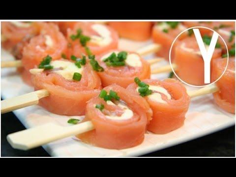 Brocheta de salm n ahumado con mantequilla de naranja for Canape de salmon ahumado