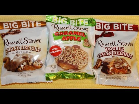 Russell Stover: Almond Delight, Caramel Apple & Double Pecan Delight Review