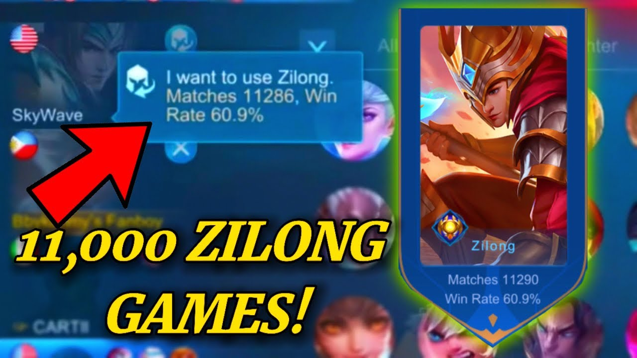 ZILONG WITH 11000 GAMES | MOBILE LEGENDS