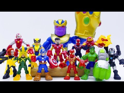 Toys Play Time Avengers Infinity War Thanos Get Beaten Toy Short Action Movie Marvel Story 2018 #2
