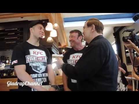 PRE-PRESS CONFERENCE KFC FIGHT FOR LIFE 2014 BEHIND THE SCENES JOSEPH PARKER