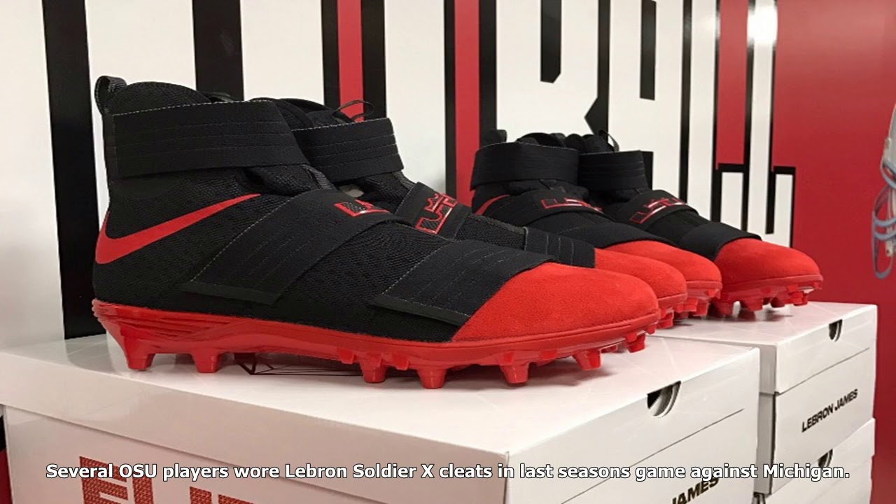 new concept bcc5e be874 Ohio state buckeyes to wear lebron james cleats against oklahoma sooners